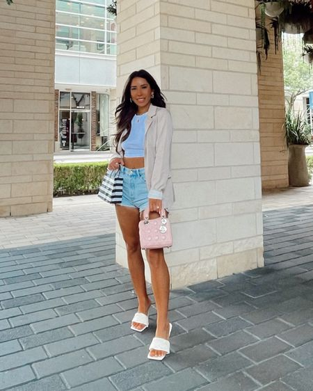 Crop, denim shorts and blazer= my go to business casual look http://liketk.it/3hFUJ #liketkit @liketoknow.it #LTKworkwear #LTKwedding #LTKtravel   #LTKUNDER100 #LTKUNDER50 #LTKSWIM #LTKHOME #LTKfit  Wedding guest dresses Summer dress Cocktail dress Post partum Baby Nursing friendly Father's Day Father's Day gift Swim Amazon swimsuits Bathing suits Cover ups Home decor Decorative bowl Outdoor pillows Patio furniture Bachelorette party Weekender bag