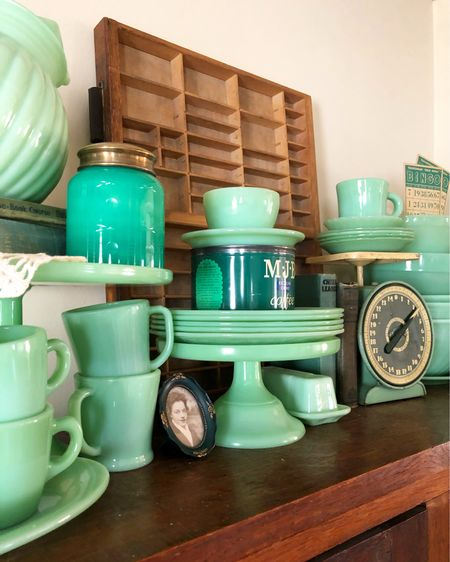 Jadeite roundup! I've gathered up a selection of jadeite dishes....some vintage and some new, since some new pieces can be tossed in the dishwasher! Whether you're adding to your collection, or just getting started, home you find something to love here! http://liketk.it/3aQtS #liketkit @liketoknow.it #LTKhome #jadeite You can instantly shop my looks by following me on the LIKEtoKNOW.it shopping app