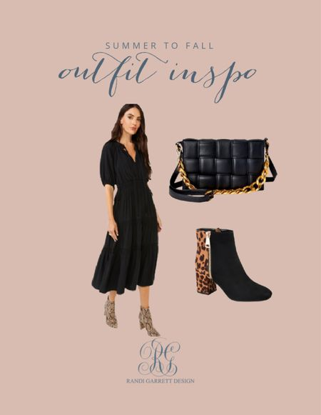 Fall black dress looks fabulous with #ad leopard booties and this black handbag all from @walmart @walmartfashion #walmartfashion  #LTKstyletip #LTKunder50 #LTKshoecrush