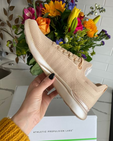 Champagne athletic shoes to celebrate a great past week #LTKshoecrush #LTKstyletip #LTKfit 🥂 http://liketk.it/37md4 #liketkit @liketoknow.it   Follow me on the LIKEtoKNOW.it shopping app at Cordially Sarah to get the product details for these shoes and other favorites of mine