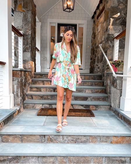 Floral tropical shirt dress perfect for vacation!    http://liketk.it/3iUM5 #liketkit @liketoknow.it @liketoknow.it.brasil @liketoknow.it.europe @liketoknow.it.home @liketoknow.it.family #LTKtravel #LTKstyletip #LTKunder50
