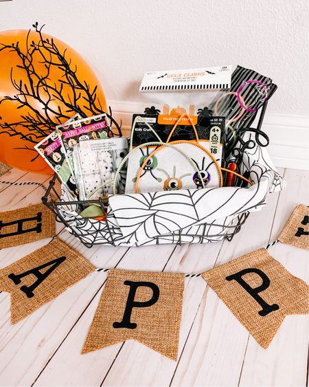 """It's officially spooky season and time to create Boo baskets! Here are some fun ideas for creating Halloween baskets for your kids or for the kids to """"BOO"""" their friends and neighbors! Halloween crafts 