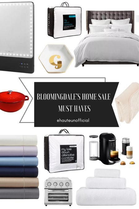 Bloomingdale's is giving 20% off most home items until 10/17, so make sure you grab my best home investments! I've had my bedding and sheets for over seven years and they still look brand new. This weighted blanket is a great price for the weight and goes with any home decor. It's also an amazing time to grab a Nespresso machine since it's under $250. I've linked another model that's under $200. The sale is also where I replace comforters. This down free option and down one or an excellent price and will last you up to 10 years if you take care of it. This Dutch oven is a great price for the size as well, along with this air fryer which is also a steal!  #LTKGiftGuide #LTKhome #LTKsalealert