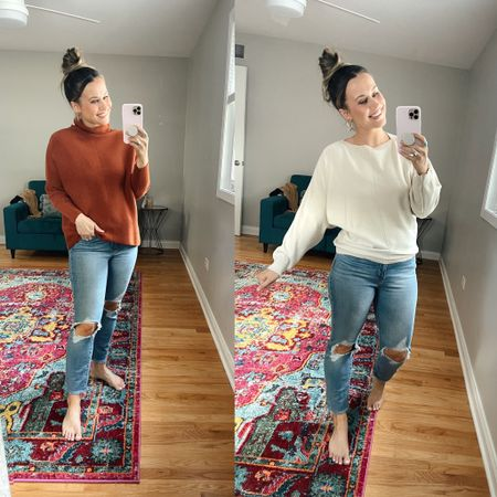 Amazon finds! Both of these sweater are perfect for fall! And prime day deals right now, and I linked these Levi's!  #LTKunder50 #LTKsalealert #LTKstyletip