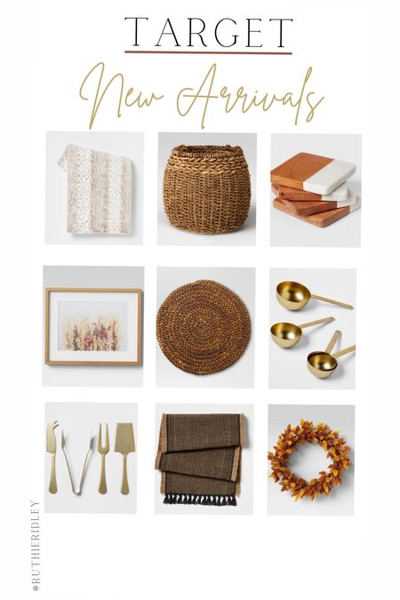 Target New Arrivals🙌🏾  Target fall design hard-core call makeover marble coasters Reese forest gold utensils Basket and Throw table runner fall table runner fall dining room design fall table  #LTKSeasonal #LTKstyletip #LTKhome