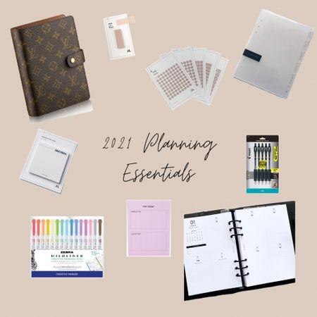 Get organized this year with my 2021 planning essentials! A full detailed post will be up on the blog soon! I'm still waiting for a few (mostly decorative) items to come!   #LTKunder50 #LTKhome #LTKNewYear