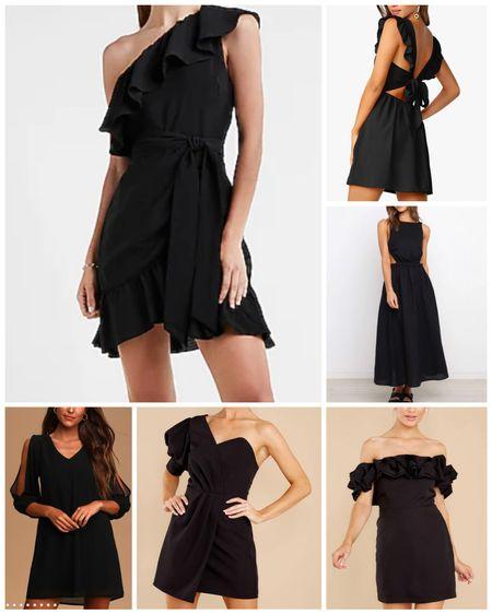 Sharing a few black dress favorites!