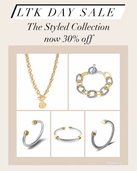 The styled collection now 30% off for LTK day    #LTKDay #LTKunder50 #LTKsalealert #liketkit @liketoknow.it http://liketk.it/3hjz7   Jewelry  Bracelet  Gifts for her Gift ideas  David Yurman Dupes  Designer Dupes Gold jewelry  Bangles  Coin necklace  Bangles  Bracelet stack  Gold rings  Cartier ring