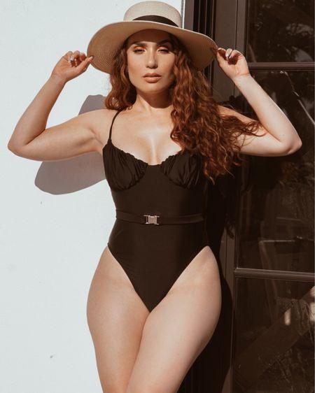 Swimwear Summer 2020 the best 1 piece suit wearing a size small.  http://liketk.it/2Te9P #liketkit @liketoknow.it   #LTKunder100 #LTKstyletip #LTKswim #swimwear #swimsuit