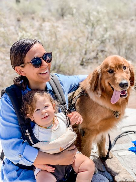 Baby carrier, dog harness, sunglasses  #LTKfamily #LTKbaby