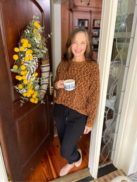 Walmart is rocking it with this leopard sweatshirt!! I'm wearing a size small.   #LTKstyletip #LTKunder50 #LTKSeasonal