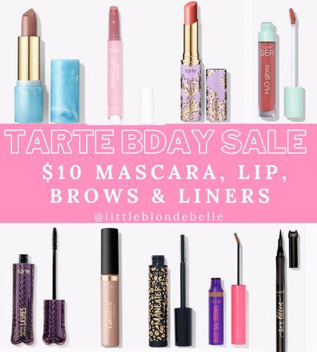 CODE: BDAY  . . . Tarte, tarte Cosmetics, lip gloss, lipstick, eyeliner, lip balm, eye brow gel, mascara   #LTKunder50 #LTKsalealert #LTKbeauty