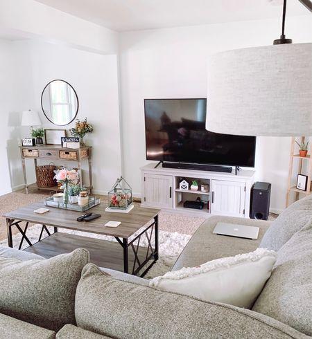 Wayfair  Living room decor Tv stand Console table  Coffee table Farmhouse decor  #livingroom #livingroomdecor #tvstand #coffeetable #consoletable #farmhouse #farmhousedecor #neutraldecor #wayfair  #LTKhome #LTKunder100 #LTKSeasonal