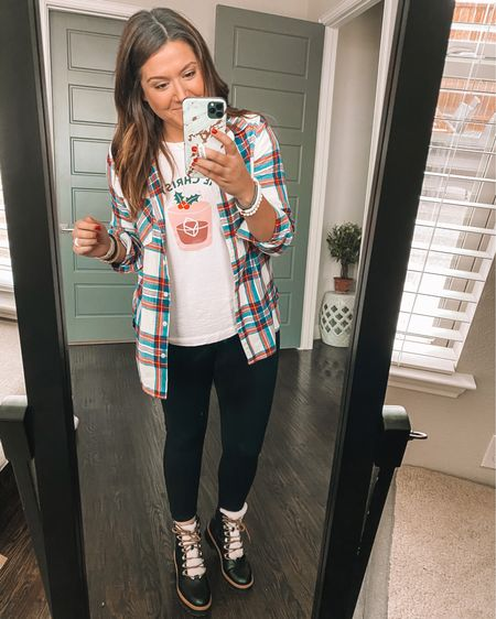 Both shirts on sale AND you can use code HOLLYJOLLY  to get $15 or more off the boots!! 🎉 http://liketk.it/32Wi1 #liketkit @liketoknow.it #LTKstyletip #LTKunder50 #LTKshoecrush Shop your screenshot of this pic with the LIKEtoKNOW.it shopping app http://liketk.it/32Wk0
