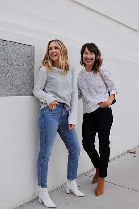 """Casual, but polished and always with a twist!🤗 We love our @splendidla outfits—a lifestyle brand that specializes in all things happy and cozy!❤️ • We've loved Splendid for years, and we're so excited to work with such an amazing, high quality brand!   Our neutral sweaters are unique and pretty, and our denim fits like a glove!👖🧤 Check out @splendidla to find so many stylish pieces that are filled with color, softness and a hint of playfulness!!  #feelsplendid #lastseenwearing  You can shop our outfits on the @shop.ltk app!  HOW TO SHOP: 1️⃣Download the app & follow """"lastseenwearing"""" 2️⃣OR click on link in bio to shop on our website!🛍  Splendid, fall sweater, fall outfit, black jeans, straight leg jeans, high waisted jeans, casual outfit, workwear, leopard print, blogger favorite   #LTKstyletip #LTKworkwear #LTKunder100"""