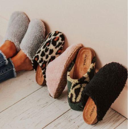 Fuzzy slippers or house shoes $20  #LTKunder50 #LTKstyletip #LTKGiftGuide