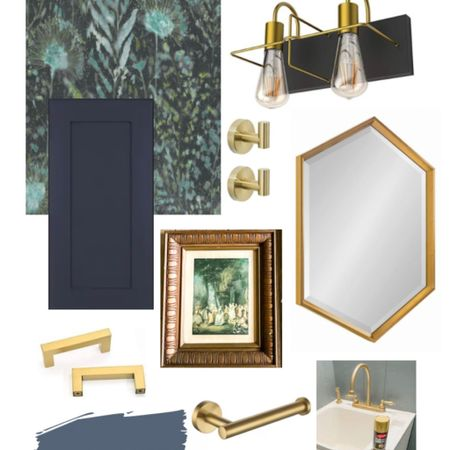 My Bathroom renovation is almost complete and here are some of my favorite bathroom items for my powder room renovation. From peel and stick wallpaper, to modern vanity light fixture. I'm loving the gold details in the hexagon mirror and pops of texture with a wood frame. http://liketk.it/38LGd #liketkit @liketoknow.it #LTKhome #LTKstyletip #LTKunder50 @liketoknow.it.brasil @liketoknow.it.family @liketoknow.it.europe @liketoknow.it.home Shop your screenshot of this pic with the LIKEtoKNOW.it shopping app Shop your screenshot of this pic with the LIKEtoKNOW.it shopping app