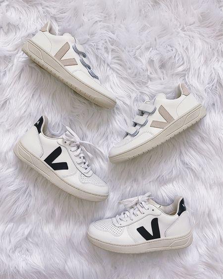 White sneakers, Veja V-10 sneakers, Veja V-Lock sneakers, black and white sneakers, pink sneakers, neutral shoes, casual shoes. @liketoknow.it http://liketk.it/3hNJH #liketkit #LTKshoecrush #LTKstyletip