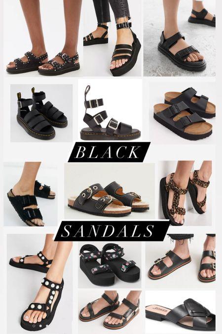 @liketoknow.it #liketkit http://liketk.it/3gVLV black leather chunky platform sandals. H&M, Asos, Lkb bennett, jigsaw, dr martens