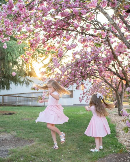 We can't get enough of these Cherry Blossoms! The light pink ones are done here and now we're on to the bright pink poufs! They have our hearts.    The girls dresses are from Amazon and they're on sale ($16), such great quality, wash well AND that twirl factor 😍😍😍. They come in short sleeve and long sleeve. I'm definitely going back for more!    http://liketk.it/3dsPi    #liketkit @liketoknow.it #LTKfamily @liketoknow.it.family   You can instantly shop all of my looks by following me on the LIKEtoKNOW.it shopping app