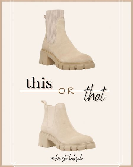 This or that - which boots would you choose?  Ankle boots Booties Nuede boots Steve Madden Nordstrom  #LTKshoecrush #LTKsalealert #LTKunder100