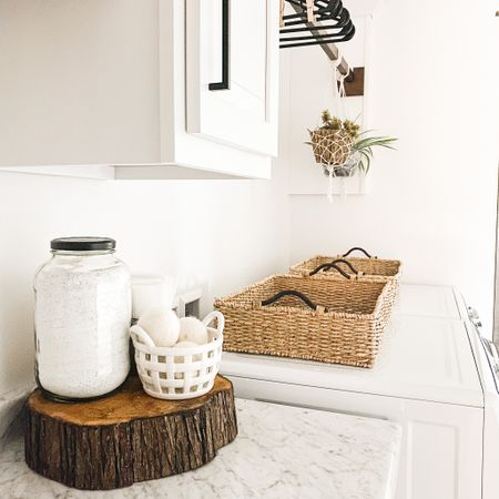 When you upcycle your pickle jar to the laundry room! 🙌🏻  This is the 2020 I am here for.   Shop my daily looks by following me on the LIKEtoKNOW.it shopping app http://liketk.it/2Wxy6 #liketkit @liketoknow.it #StayHomeWithLTK #LTKhome @liketoknow.it.home