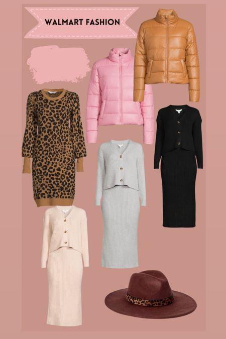 Walmart fashion finds Sweater dress Puffer coat Fall hat   #LTKSeasonal #LTKHoliday #LTKunder50