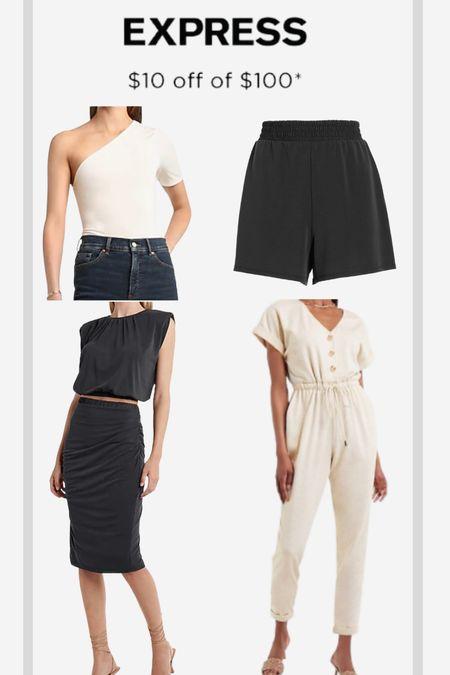 Express skirt top and jumpsuit are all part of LTK   #LTKunder100 #LTKsalealert #LTKDay