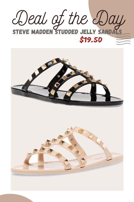 Steve Madden studded jelly sandals #ltkunder20   #LTKunder50 #LTKsalealert #LTKshoecrush