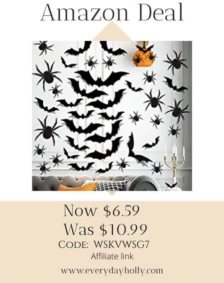Amazon deal! 🦇  72pcs Halloween Scary 3D Bat Spider Stickers,Halloween Decor Bat Stickers for Indoor,Outdoor 40% off Code: WSKVWSG7   #LTKHoliday #LTKsalealert #LTKSeasonal