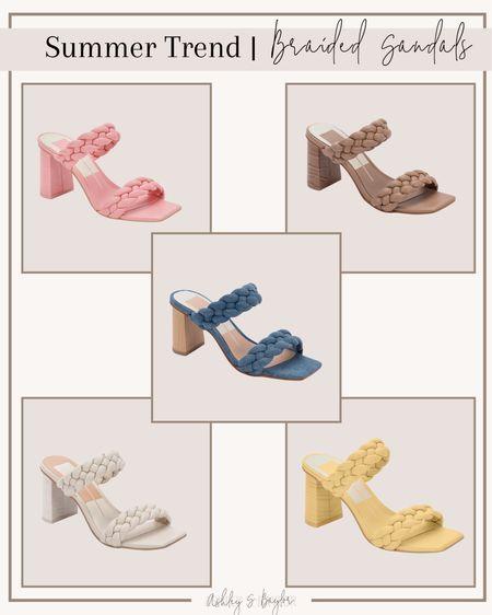 http://liketk.it/3h8SC #liketkit @liketoknow.it #LTKshoecrush #LTKstyletip #LTKsalealert Nordstrom, braided sandals, Dolce Vita