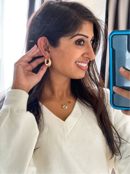 Madewell earrings!  I loved these but bc of how sensitive my skin has been lately, I'm trying to stick to only real gold plated earrings.   Nonetheless, I may order these in the future.  #trunkclub    #LTKbacktoschool #LTKunder50 #LTKworkwear