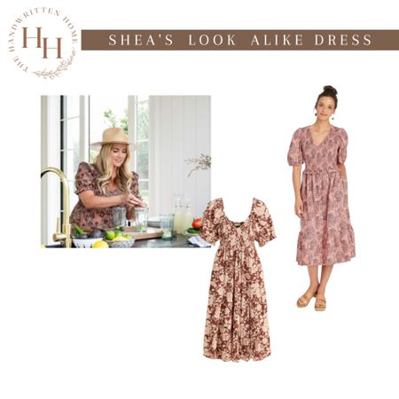 Studio McGee Shea's floral dress look alike s for less.  Shea shared her gorgeous floral dress for a perfect transition to fall.  Floral dress   studio McGee   fall dress   long dress for fall   boho dress   fall wardrobe   fall capsule  📷 @studiomcgee  #LTKSeasonal #LTKunder100 #LTKstyletip