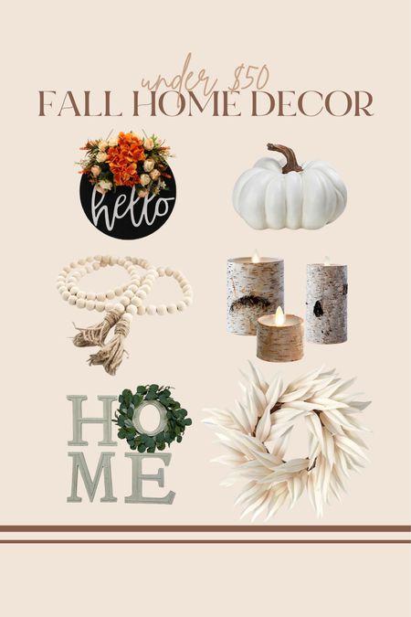 Fall home decor finds all under $50!!  #LTKunder100 #LTKSeasonal #LTKunder50