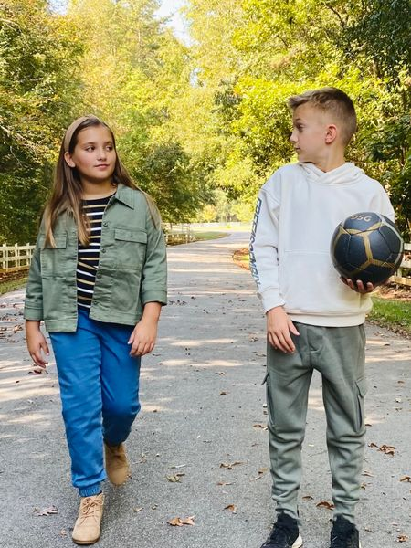 #Ad  Easy mix and match pieces for fall from #FreeAssembly kids exclusively at @walmart @walmartfashion  Boys outfit, girls outfit, utility jacket, hoodie, jeans, cargo jogger  #LTKfamily #LTKunder50 #LTKkids