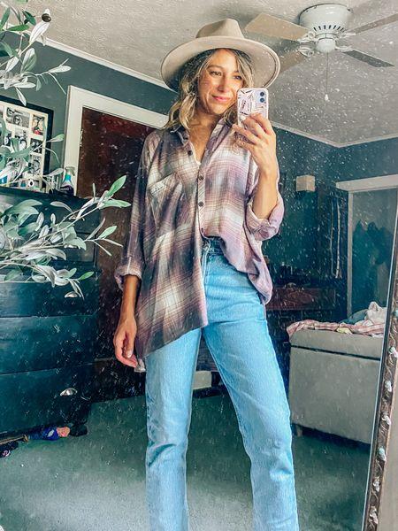 Nordstrom Anniversary Sale // Style inspo // Flannel shirt // plaid shirt // oversized fit   #LTKsalealert #LTKstyletip #LTKunder50