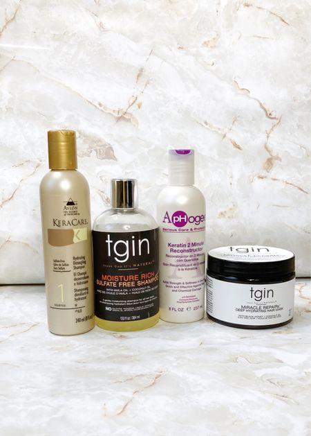 What I used to wash my relaxed hair this weekend.  #LTKbeauty