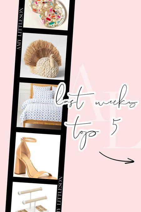 Last week's top 5 best sellers! 💗 #nudeheel #falldecor #SerenaandLily