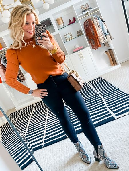 15% off sweater with LAUREN15. Wearing a small sweater.