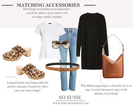 Matching accessories outfit inspo!  Fall fashion, clog outfit inspo, fall outfit ideas   #LTKstyletip #LTKSeasonal #LTKworkwear