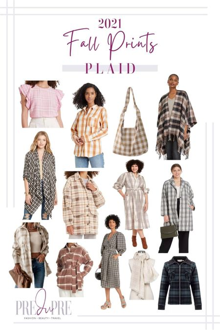 Fall prints that are in style this season. Fall doesn't just mean solid and texture pieces, but fun colorful prints too. Read more about the prints in style at my blog www.predupre.com  http://liketk.it/3mRFt  Plaid print, plaid, plaid top, plaid button down top, plaid bag, plaid cardigan, plaid shawl, plaid dress, plaid shacket, plaid coat, plaid dress, plaid shawl, plaid jacket, button down top, cardigan, scarf, shawl, shacket, jacket, dress, fall outfit, fall clothing, fall staples  #LTKSeasonal #LTKstyletip