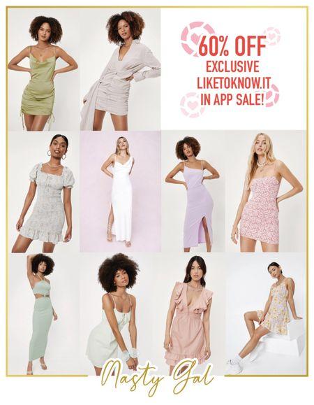LTK Day is here!  Shop Nasty Gal and take 60% off!  #LTKDay #LTKsalealert #LTKunder50