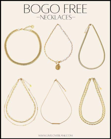 BOGO free on their gold collection  Rounding up my fav necklaces here   #LTKstyletip #LTKGiftGuide #LTKsalealert