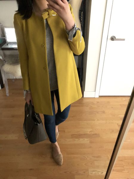 💛 A new post is up on www.whatjesswore.com (link in profile) while everything is still on sale for President's Day! Get an extra 60% off sale styles @loft with code HAPPY! My striped sweater is currently 40% off (I took size XS regular for a relaxed fit). My jacket is old from Crewcuts but you can get the rest of my outfit details @liketoknow.it http://liketk.it/2uHwj #liketkit #LTKunder50 #LTKunder100 #LTKitbag #LTKshoecrush #LTKstyletip #LTKsalealert