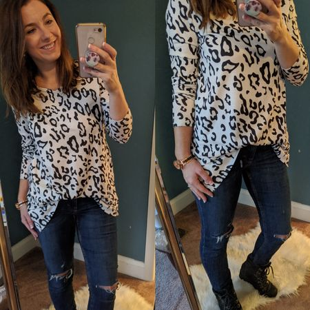 😍Leopard is my favorite color - what's yours?  I seriously need more leopard like i need a toothache - but who can stop true love???  This sweet little cotton tunic has been perfect - i wear it with jeans or leggings and can even tuck it in for another cute look with a belt.  I'm also digging the white for winter but it comes in 6 other great colors and is under $16 right now!!   http://liketk.it/2IDRq @liketoknow.it #liketkit #LTKsalealert #LTKstyletip #LTKunder100 Screenshot or 'like' this pic to shop the product details from the LIKEtoKNOW.it app, available now from the App Store! Look for FigAndRoses 💋