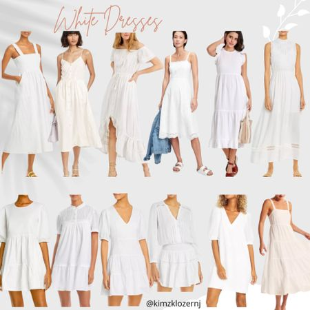 http://liketk.it/3dVnn #liketkit @liketoknow.it Looking for a white dress? Here are some great options. Follow me on the LIKEtoKNOW.it shopping app to get the product details for this look and others