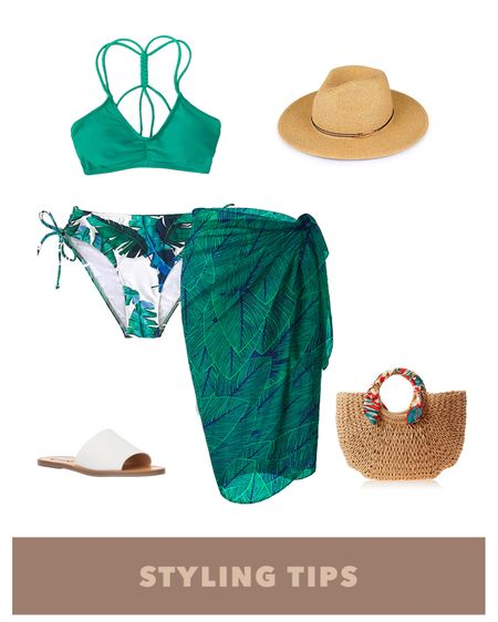 A tropical high waisted bikini paired with a wrap skirt coverup , slide sandals , Panama hat , and a straw bag makes a cute poolside or beach vacation outfit . Shop my daily looks and finds  by following me on the LIKEtoKNOW.it shopping app http://liketk.it/3i9Da #liketkit @liketoknow.it #LTKcurves #LTKsalealert #LTKstyletip #LTKtravel #LTKunder50 #LTKshoecrush #LTKitbag #LTKunder100 # #LTKSeasonal #LTKswim Amazon prime day   Beach vacation   swimwear   swim   summer fashion   amazon finds   amazon fashion   vacation outfits   vacation   amazon swimsuits   beach outfit   two piece bathing suit   pool party   wrap skirt   beach wrap skirt   beach hat   beach bag   sandals casual   bags under 50   bags under 100   coverup swim   beach towel