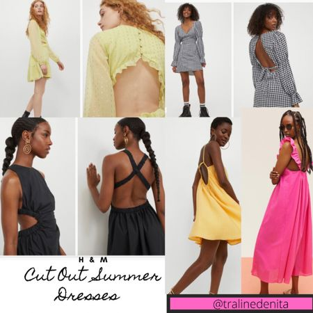 Cut Out Summer Dresses!! H&M Dresses #h&m #summerdresses #cutoutdresses #LTKunder50 #LTKstyletip #LTKunder100 http://liketk.it/3ifLY #liketkit @liketoknow.it You can instantly shop all of my looks by following me on the LIKEtoKNOW.it shopping app