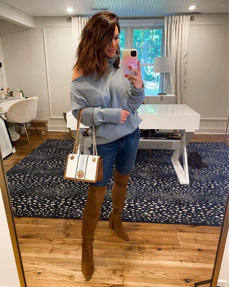 Sweater (M) Denim (2-sized down one) Boots TTS  @liketoknow.it http://liketk.it/3jUO1 #liketkit #LTKsalealert #LTKstyletip #LTKitbag   Nsale, fall outfit