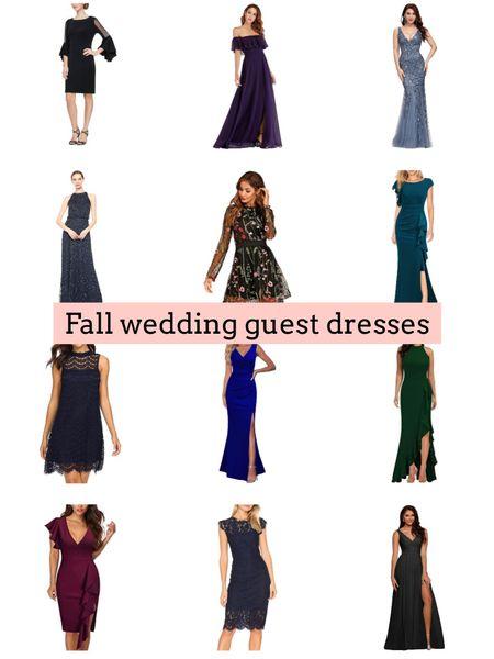 Fall wedding. Wedding guest dresses   #LTKwedding #LTKunder50 #LTKstyletip